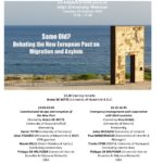 """New Webinar on the 20 October: """"Same Old? Debating the New European Pact on Migration and Asylum"""" with Odysseus members Philippe De Bruycker, Lilian Tsourdi, Daniel Thym & more"""